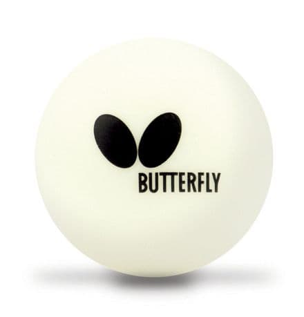 Butterfly Plastic Easy Table Tennis Balls 40+ - Pack of 6