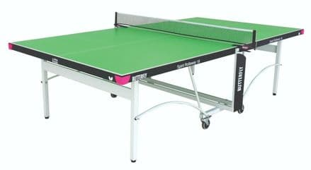 Butterfly Spirit Indoor 19 Table Tennis Table - Green - including bats,balls&net