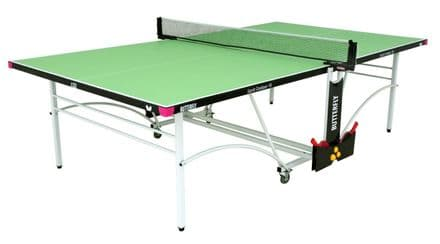 Butterfly Spirit Outdoor 10 Table Tennis Table - Green - with protective cover