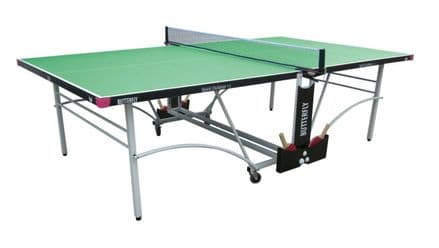 Butterfly Spirit Outdoor 12 Table Tennis Table - Green - with protective cover