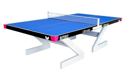 Butterfly Ultimate Outdoor Table Tennis Table - Blue - with net/post set