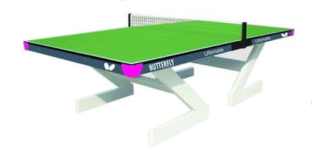 Butterfly Ultimate Outdoor Table Tennis Table - Green - with net/post set