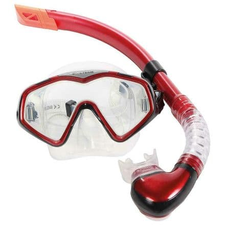 Divetech PRO Cayman Silicone Mask & Snorkel - Diving, Swimming, Snorkelling