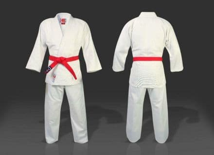 KO Kano 600 gsm Adult 100% Premium Cotton White Judo Gi Suit + Free Belt