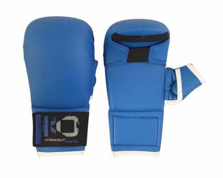 KO Karate PU Elite Sparring  Mitts With Thumb Protection Gloves