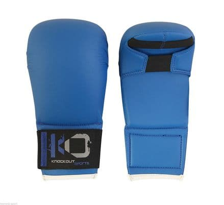 KO Karate PU Elite Sparring Thumbless  Mitts Gloves