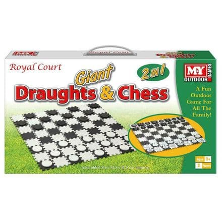 M.Y Giant Draughts & Chess 2-In-1 Game Fun Kids Family