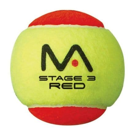 MANTIS Mini Tennis Red Balls Pack of 12 Stage 3