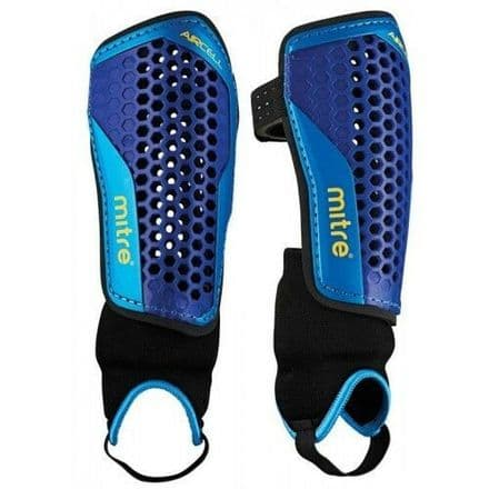 Mitre Aircell Carbon Football Shinpads + Ankle Support
