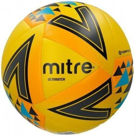 Mitre Ultimatch Fluo Yellow Football