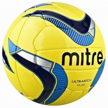 Mitre Ultimatch Fluo Yellow Match Football - Size 3