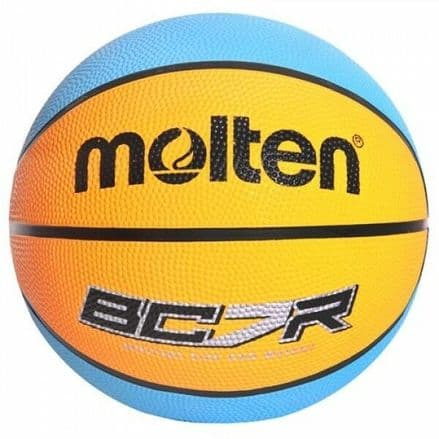 Molten Blue/Orange 8 panel Rubber Basketball