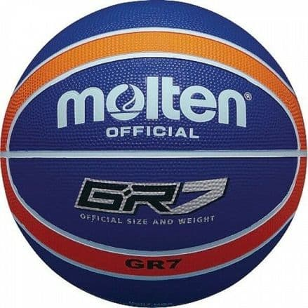 Molten Orange/Blue Rubber Basketball