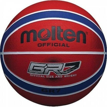 Molten Red/Blue Rubber Basketball