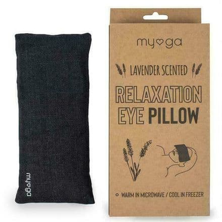 Myga Eye Pillow Relaxation Lavender Scented Black