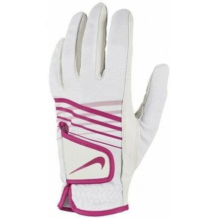 Nike Golf Glove Womens Summerlite Left Hand - White Pink