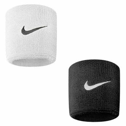 Nike Sweat Wristbands Swoosh Sports One Pair Stretch Tennis Fitness Sweatbands