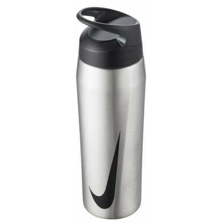 Nike Water Bottle - Stainless Steel Hypercharge Straw 24oz Silver 2020