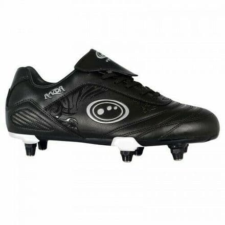 OPTIMUM FOOTBALL BOOT RAZOR Si + LACE BLACK/BLACK
