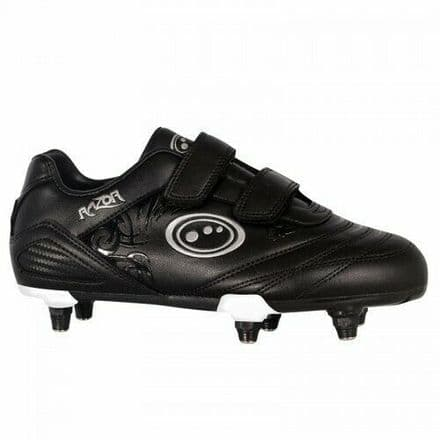 OPTIMUM FOOTBALL BOOT RAZOR Si + VELCRO BLACK/BLACK