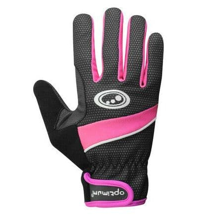 "OPTIMUM ""NITEBRITE"" CYCLING LADY WINTER GLOVES PINK"