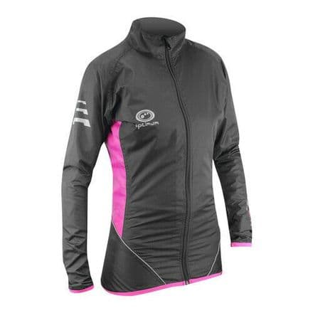 "OPTIMUM ""NITEBRITE"" LADY RUNNING RAIN JACKET PINK"
