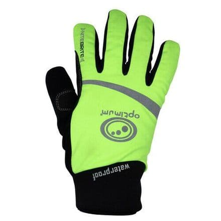 "OPTIMUM ""NITEBRITE"" WATERPROOF CYCLING GLOVES"