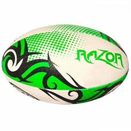 OPTIMUM RUGBY BALL RAZOR BLACK./GREEN
