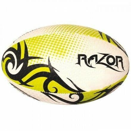 OPTIMUM RUGBY BALL RAZOR BLACK./YELLOW