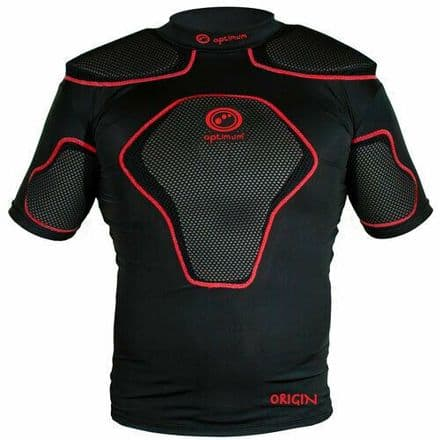 "OPTIMUM RUGBY BODY PROTECTION ""ORIGIN"" BLACK"