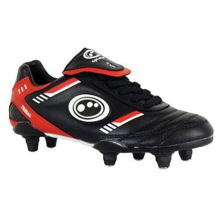 OPTIMUM TRIBAL FOOTBALL BOOTS S.I. + LACE BLACK/RED