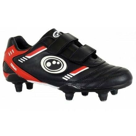 OPTIMUM TRIBAL FOOTBALL BOOTS S.I. + VELCRO BLACK/RED