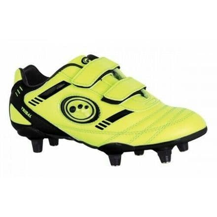 OPTIMUM TRIBAL FOOTBALL BOOTS SI + VELCRO FLUO-YELLOW