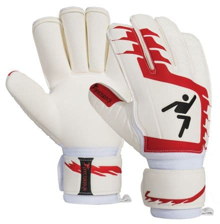 Precision Classic Red Rollfinger Finger Protection GK Gloves Football soccer