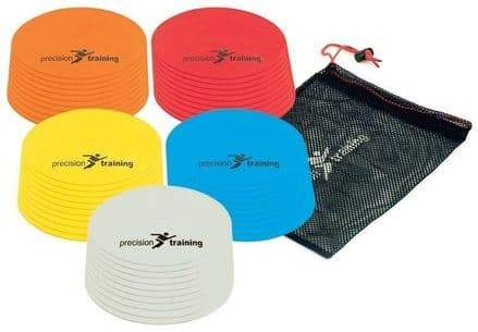 Precision Pro Flat Round Markers Training Soccer Football