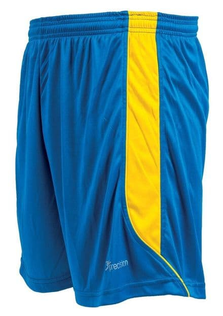 Precision Real Shorts - Royal/Yellow Football  Soccer