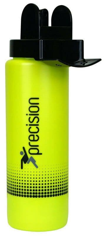 Precision Team Hygiene Water Bottle - Fluo Lime/Black Training Gym Football