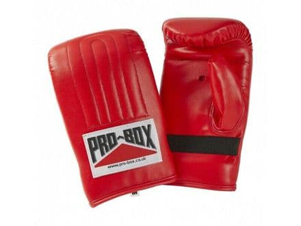 Pro Box Bag Mitts Boxing Training Gloves PU - Red