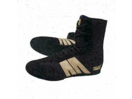 Pro Box Boxing Boots - Adults Sparring Training Shoes Black Gold