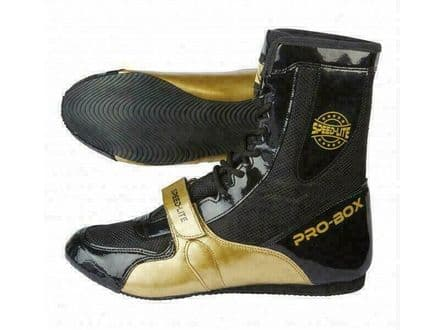 Pro Box Boxing Boots Speed Lite Shoes  Black-Gold