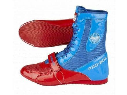 Pro Box Boxing Boots Speed Lite Shoes - Blue Red