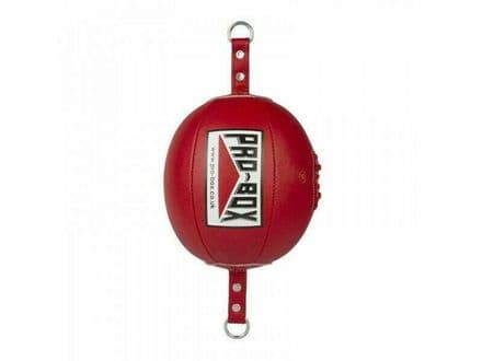 Pro Box Boxing Floor To Ceiling Ball Red PU with Straps