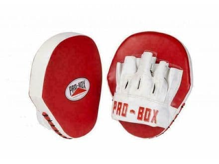 Pro Box Boxing Focus Mitts Speed Pads PU Club Essential - Red