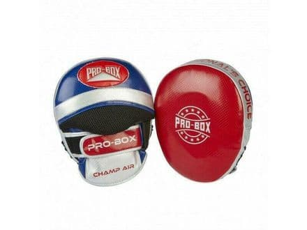 Pro Box Boxing Focus Pads - Air Champ Spar Mitts Red Blue