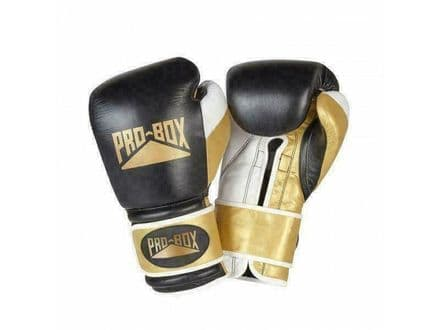 Pro Box Boxing Gloves - Pro Spar Leather Limited Edition - Black Gold