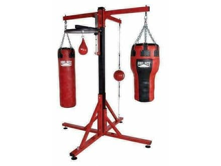 Pro Box Boxing Gym Frame Bag Colossus Four Station with Speedball Option