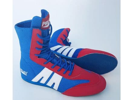 Pro Box Kids Boxing Boots - Junior Sparring Training Boxing Shoes Blue Red