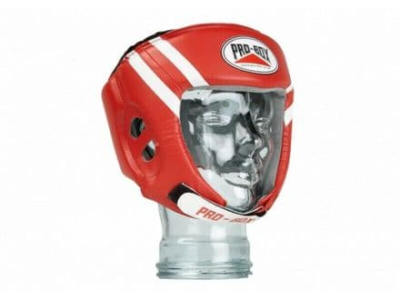 Pro Box Kids Boxing Head guard PU Essentials  Training Sparring Red