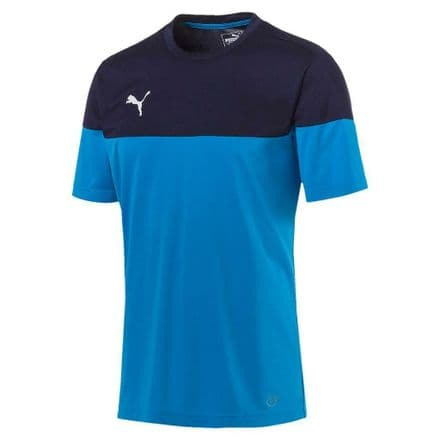 Puma Junior Football Training Shirt Azur-Peacoat - Blue