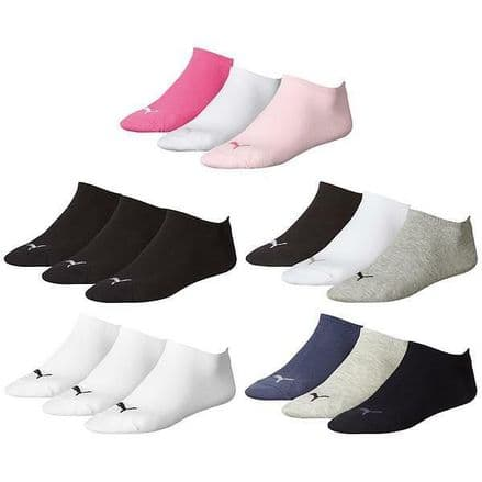 Puma Sneaker Invisible Socks - (3 Pairs)